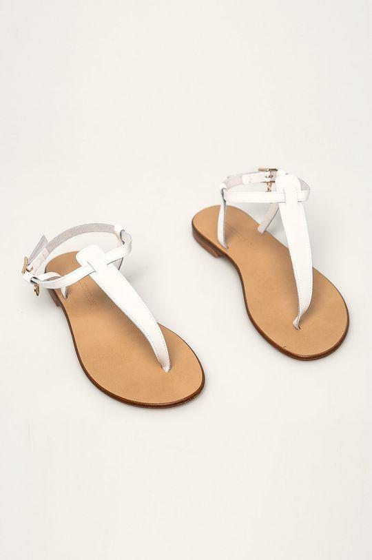 Trussardi Jeans - Sandále biela