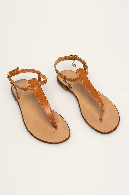 Trussardi Jeans - Sandály zlatohnědá