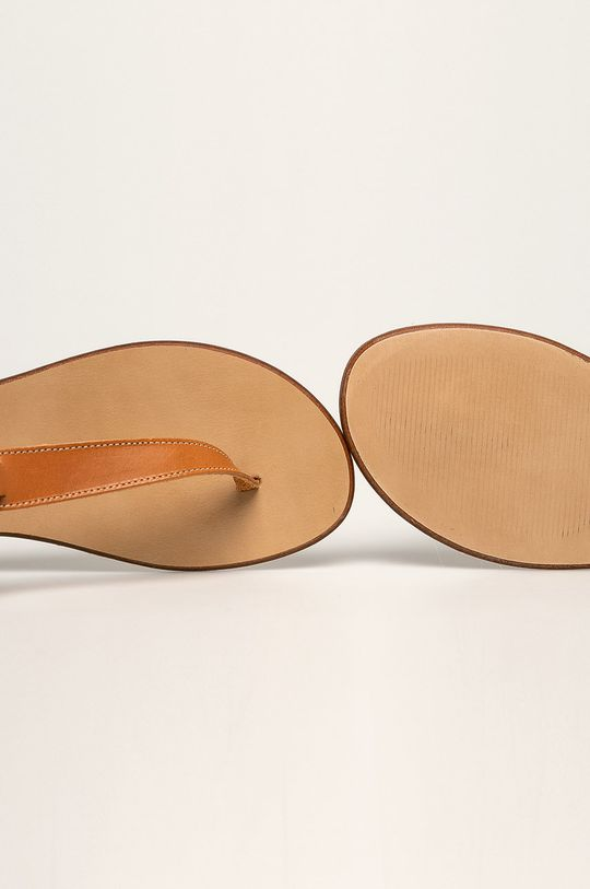 zlatohnědá Trussardi Jeans - Sandály