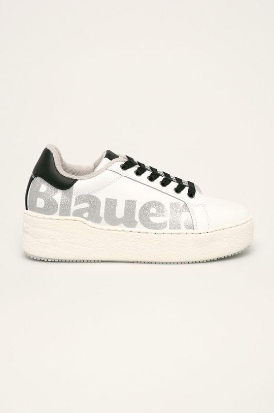 biały Blauer - Buty skórzane Damski