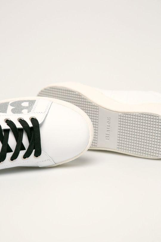 biały Blauer - Buty skórzane