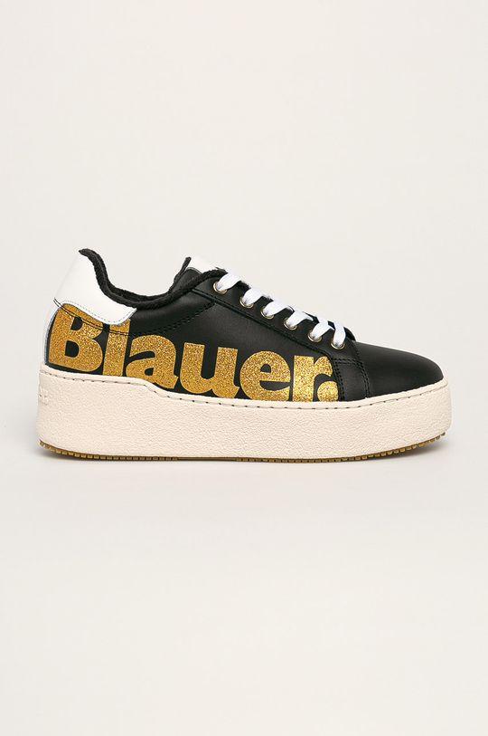 čierna Blauer - Kožená obuv Dámsky