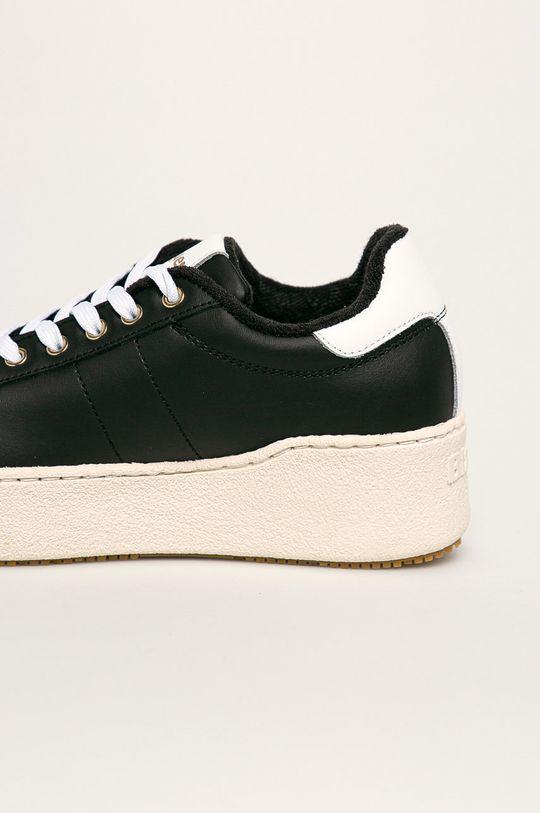 čierna Blauer - Kožená obuv