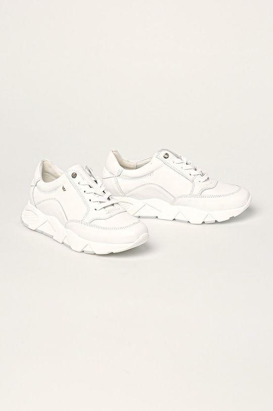 Wojas - Kožená obuv biela