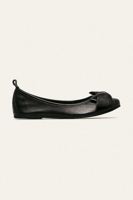 čierna Wojas - Kožené balerínky Dámsky