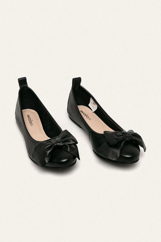 Wojas - Kožené balerínky čierna
