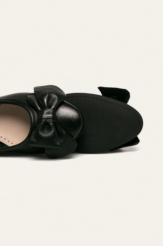 čierna Wojas - Kožené balerínky