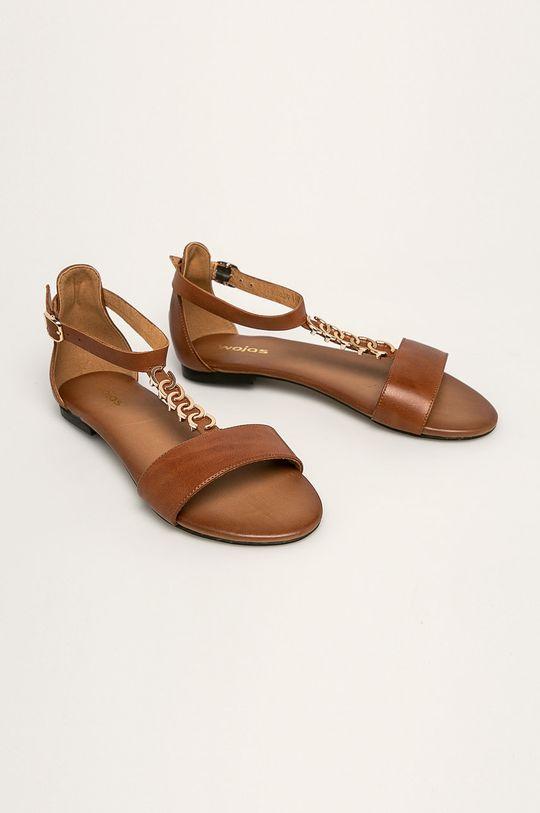 Wojas - Sandały skórzane brązowy