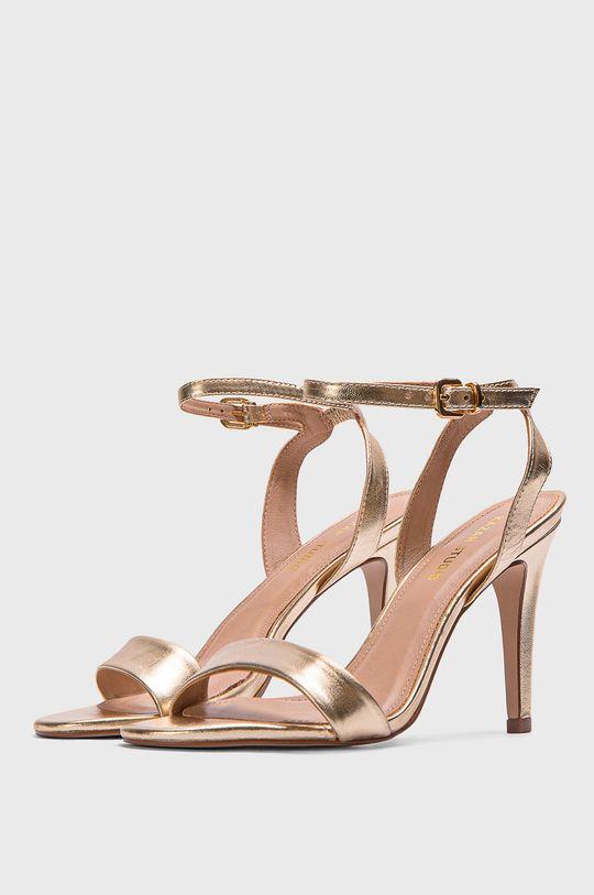 Kazar Studio - Sandale de piele aur