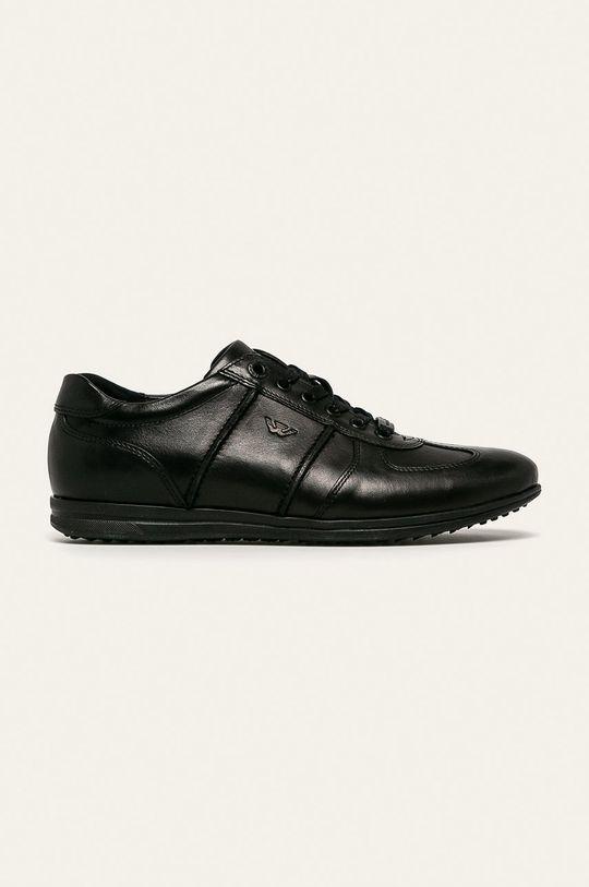 čierna Wojas - Kožená obuv Pánsky