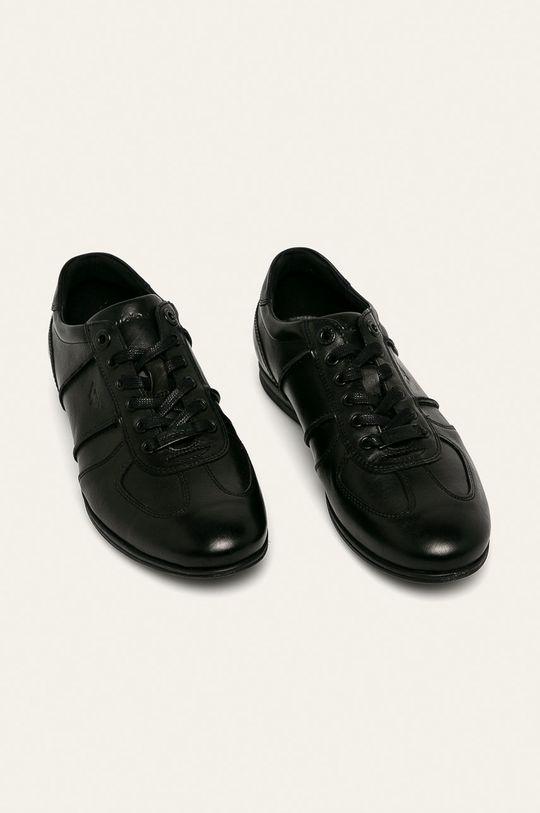 Wojas - Kožená obuv čierna