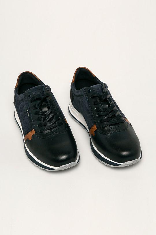 Wojas - Kožená obuv tmavomodrá