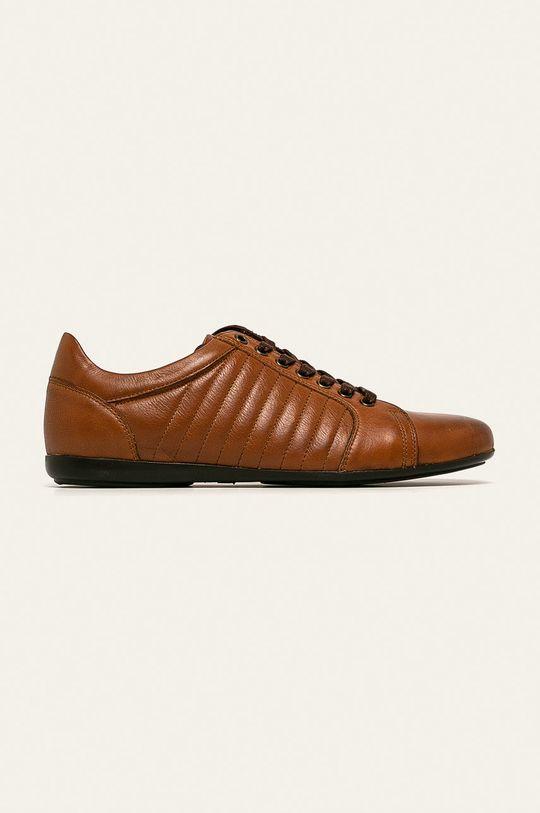 zlatohnedá Wojas - Kožená obuv Pánsky