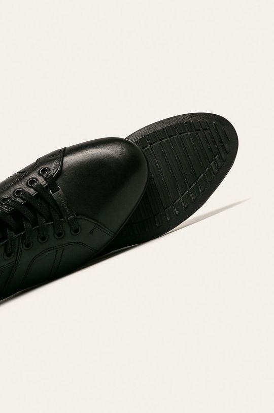 čierna Wojas - Kožená obuv