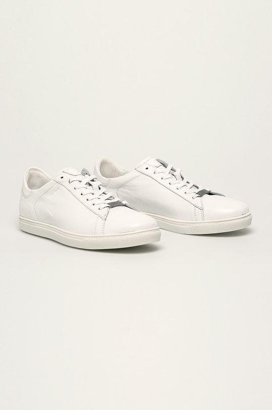 Wojas - Kožené boty bílá