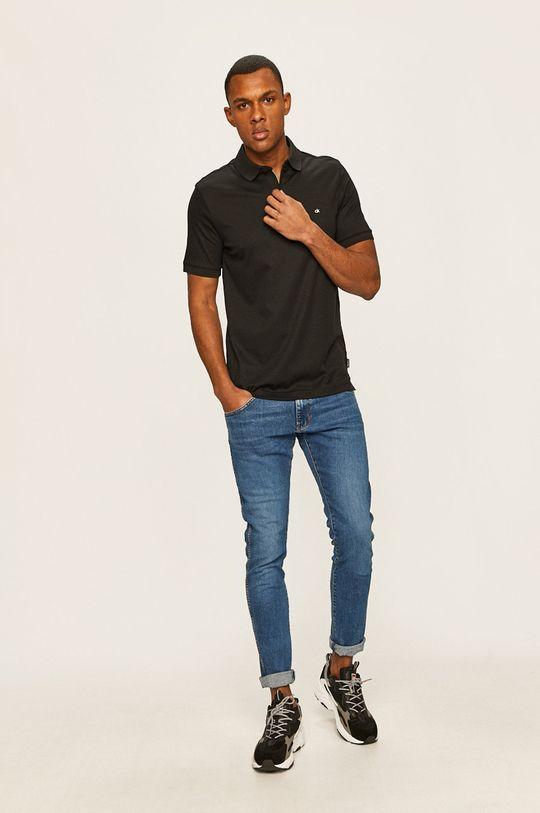 Calvin Klein - Tricou Polo negru