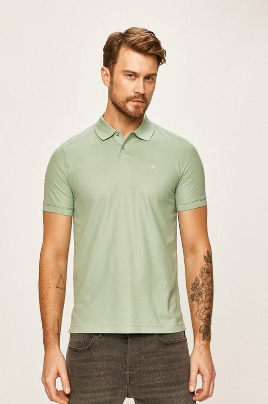 světle zelená Calvin Klein - Polo tričko Pánský
