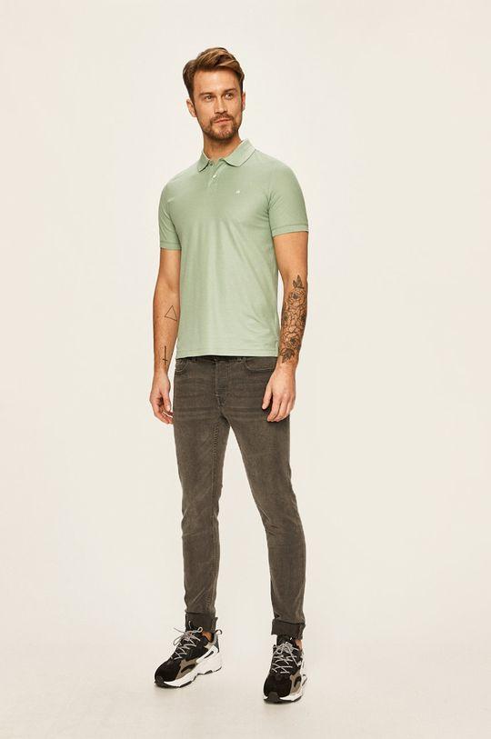 Calvin Klein - Polo tričko světle zelená