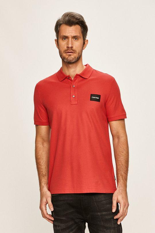 červená Calvin Klein - Polo tričko Pánský