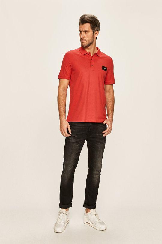 Calvin Klein - Polo tričko červená