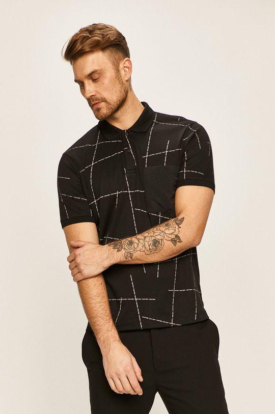 čierna Calvin Klein - Polo tričko Pánsky
