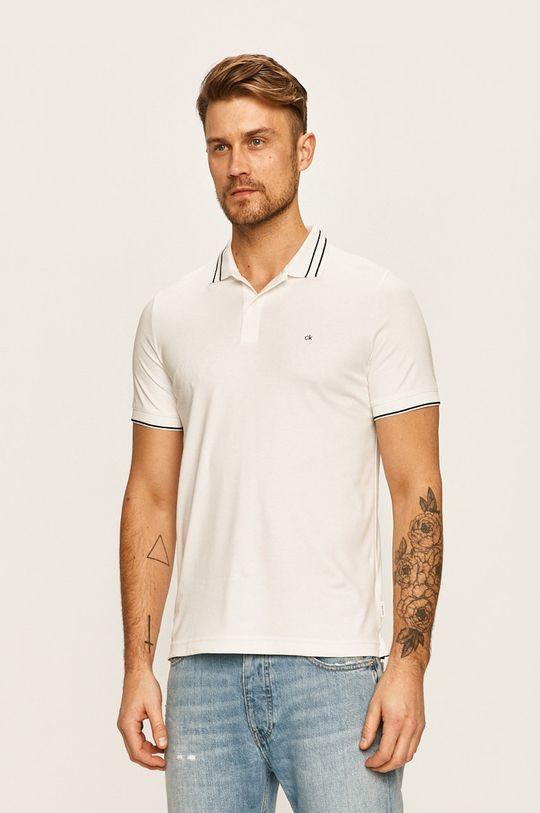 biela Calvin Klein - Pánske polo tričko Pánsky