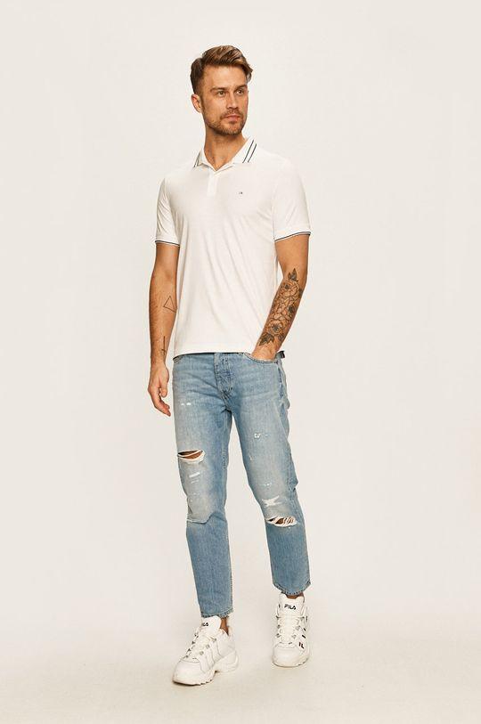 Calvin Klein - Pánske polo tričko biela