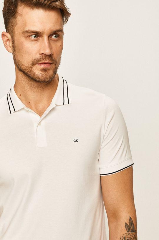 biela Calvin Klein - Pánske polo tričko