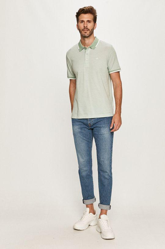 Calvin Klein - Tricou Polo verde pal