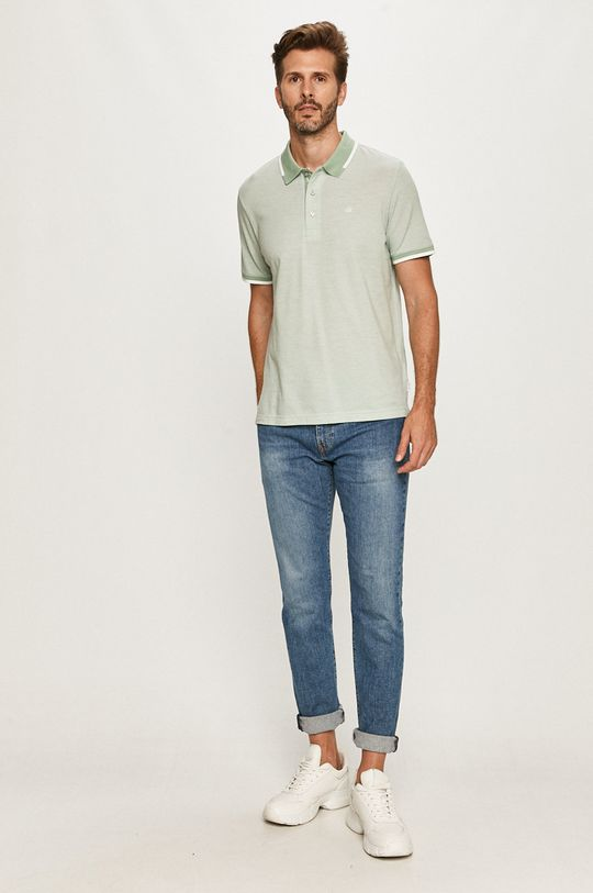 Calvin Klein - Polo tričko bledozelená