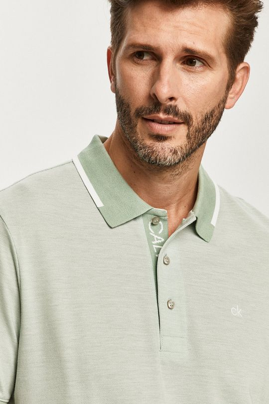 bledozelená Calvin Klein - Polo tričko