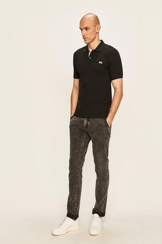 Napapijri - Тениска с яка черен