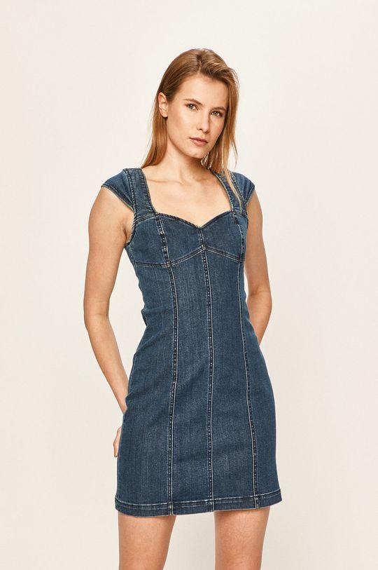 oceľová modrá Volcom - Rifľové šaty Dámsky
