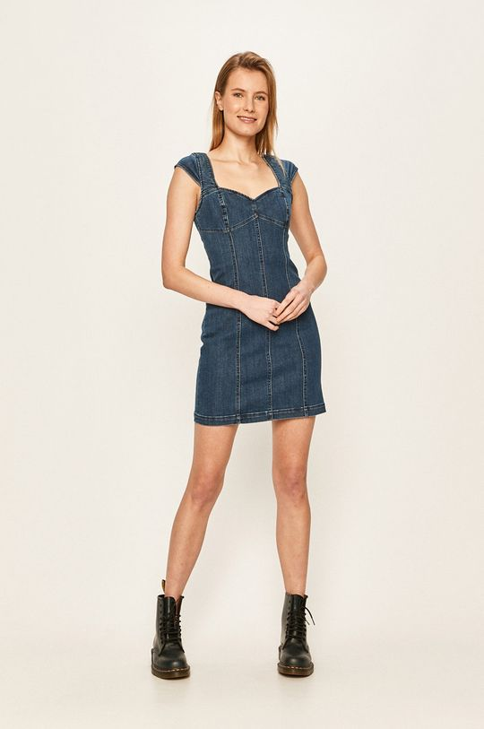 Volcom - Rifľové šaty oceľová modrá