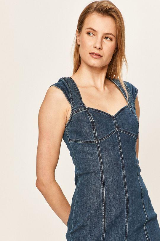 oceľová modrá Volcom - Rifľové šaty