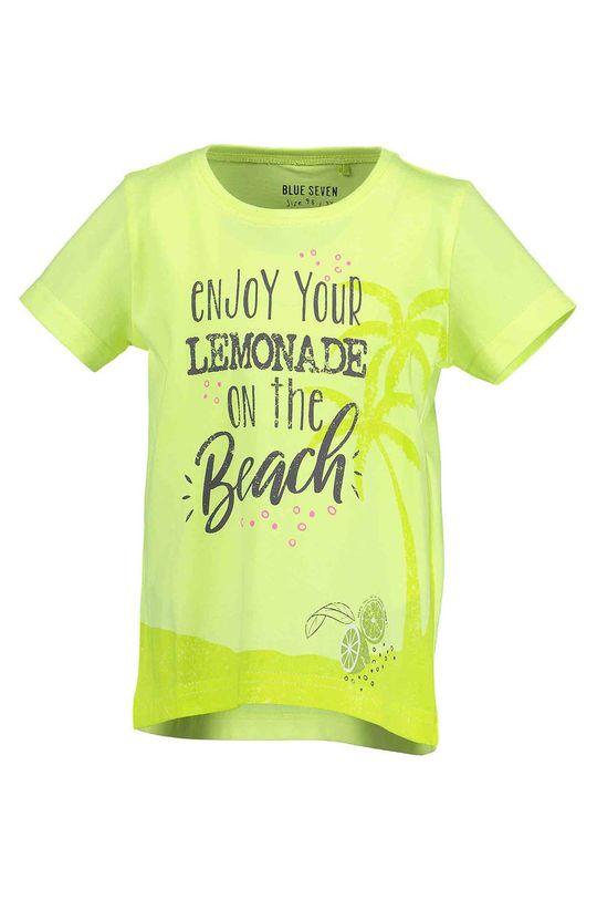 žlto-zelená Blue Seven - Detské tričko 92-128 cm Chlapčenský