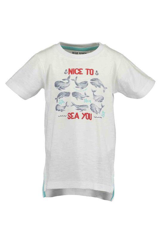 alb Blue Seven - Tricou copii 92-128 cm. De băieți