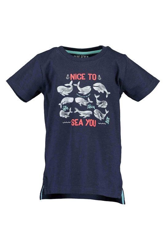 modrá Blue Seven - Detské tričko 92-128 cm. Chlapčenský