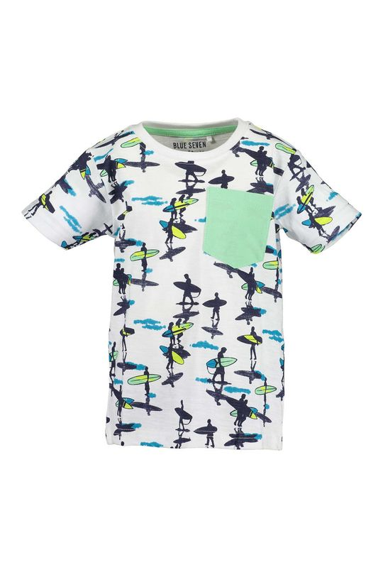 biela Blue Seven - Detské tričko 92-128 cm Chlapčenský