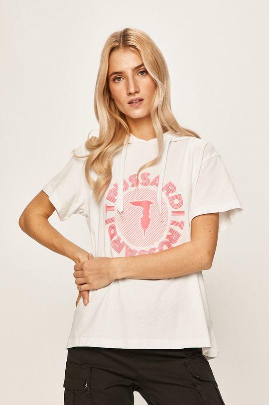 biały Trussardi Jeans - T-shirt Damski