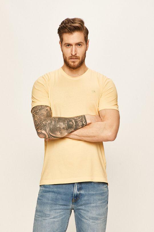 žlutá Calvin Klein - Tričko Pánský