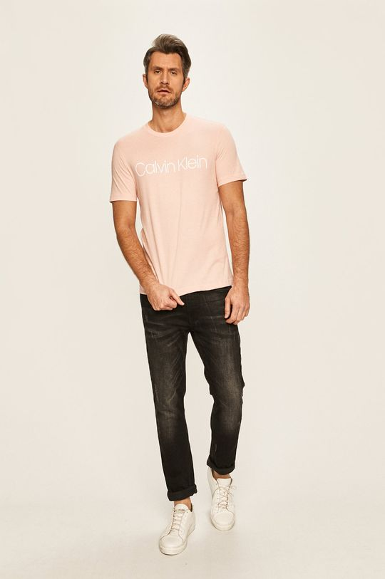 Calvin Klein - Tričko pastelově růžová
