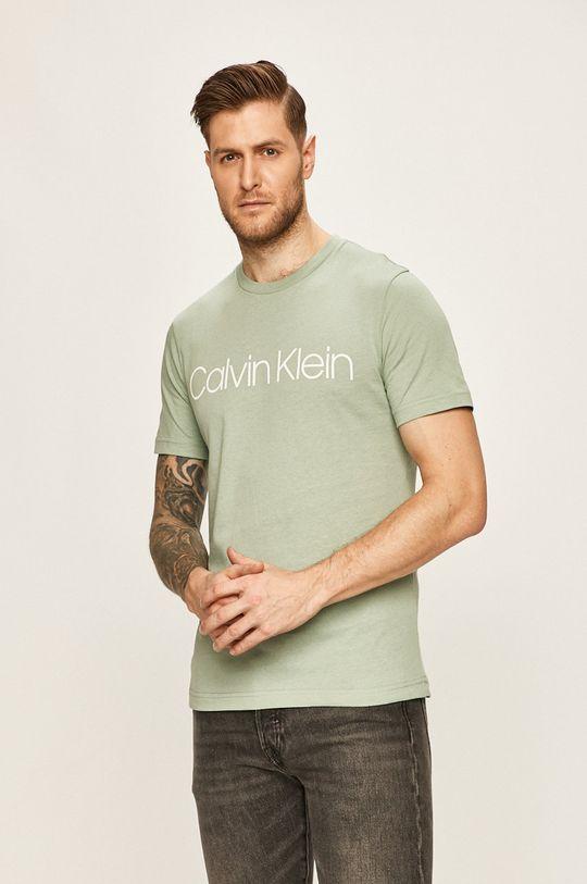 světle zelená Calvin Klein - Tričko Pánský