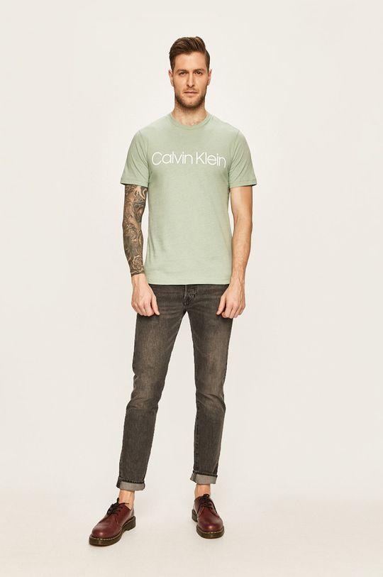 Calvin Klein - Tričko světle zelená