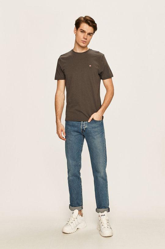 Napapijri - Pánske tričko sivá