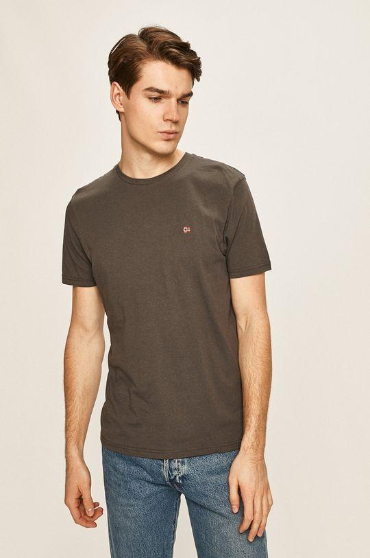 sivá Napapijri - Pánske tričko