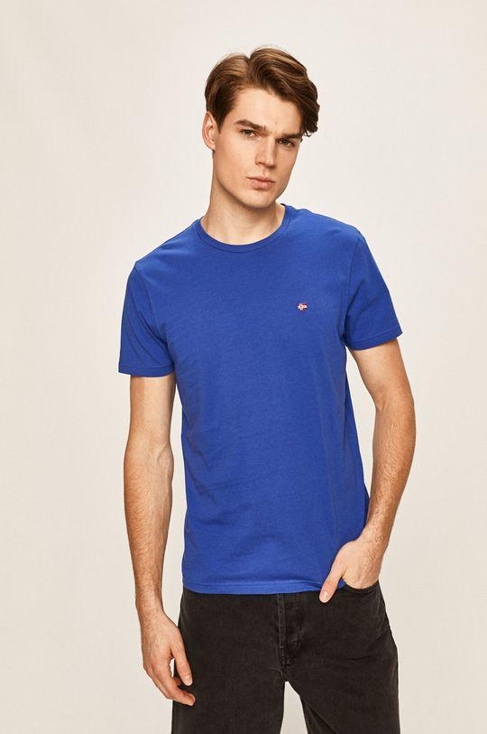 modrá Napapijri - Pánske tričko Pánsky