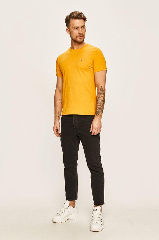Napapijri - Pánske tričko jantárová