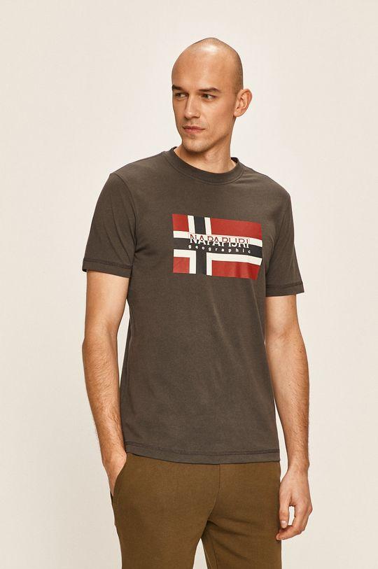 сив Napapijri - Тениска