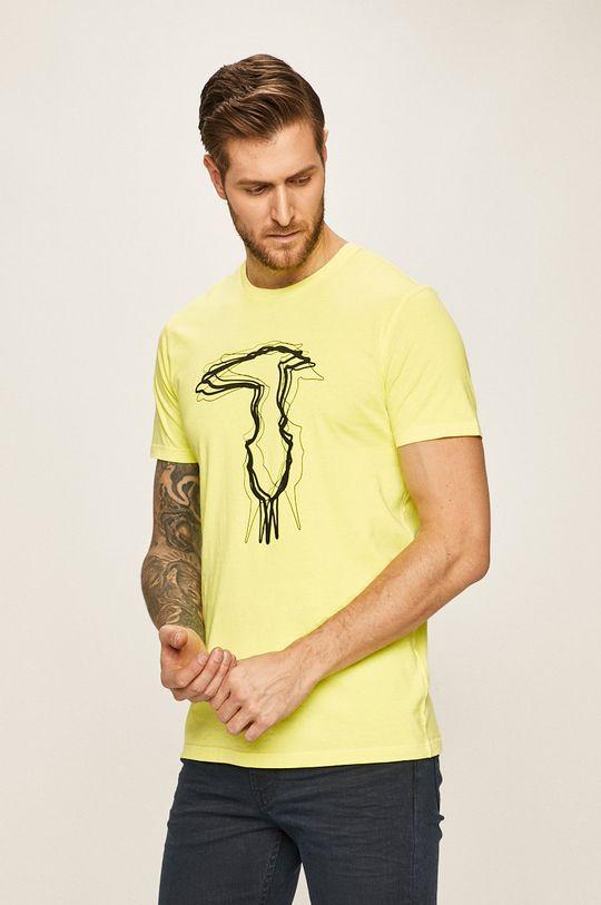 galben Trussardi Jeans - Tricou De bărbați